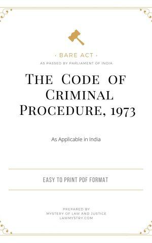 The Code of Criminal Procedure, 1973
