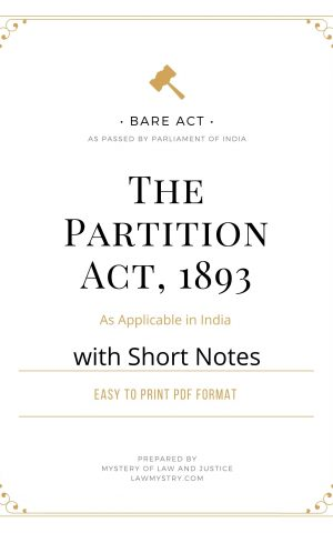 The Partition Act, 1893